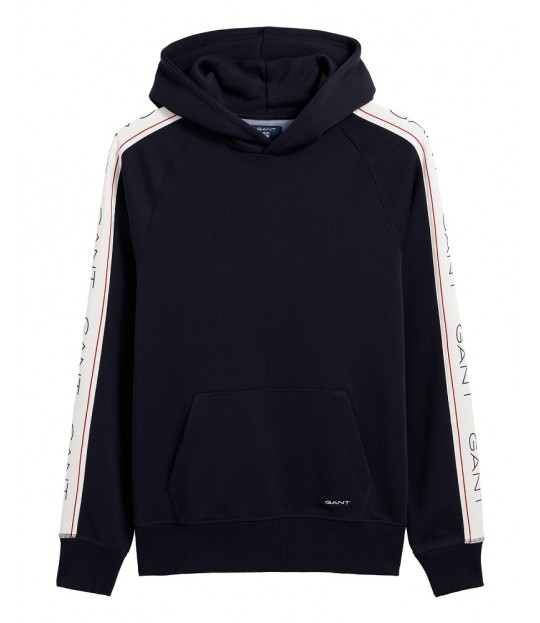 99ed2608 Gant Archive Stripe Sweat Hoodie Blue
