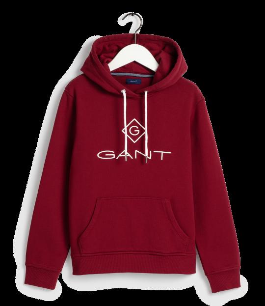 Gant Lock-Up Hoodie Red