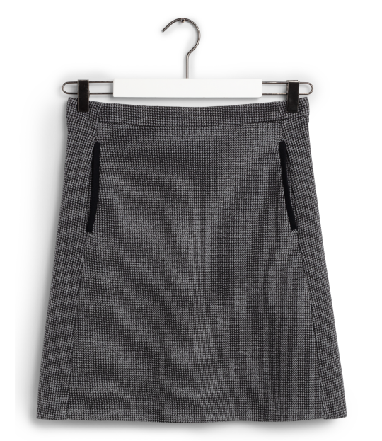 Dogtooth Jersey Skirt